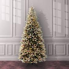three posts fir pre lit 7 5 slim artificial tree with 600
