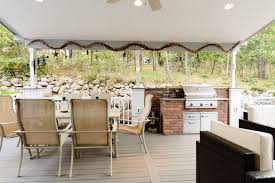Patio Cover Lights by Custom Deck Gallery Custom Deck Builders Outdoor Kitchens El