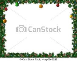 clip art of christmas border holiday border of spruce ornaments