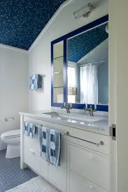 Double Trough Sink Bathroom Double Trough Sink Bathroom Beach With Blue Mirror Blue Ceilings