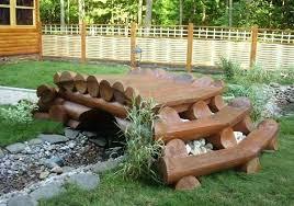 yard bridge yard bridge decorative bridge made of logs bridgewater community