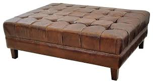 brown leather square ottoman fashionable leather square ottoman studio square ottoman large
