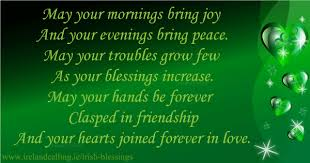 wedding blessings blessings and sayings ireland calling