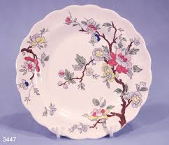 booths tree vintage silicon china tea plate pattern a8001