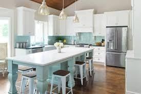 Grey And Turquoise Kitchen by Profile Cabinet And Design