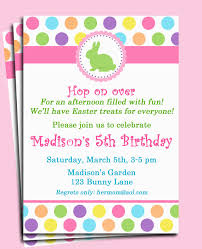 birthday brunch invitations easter bunny invitation printable or printed with free shipping