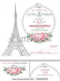 eiffel tower wedding invitations wedding invitation template setwatercolor eiffel towerwatercolor