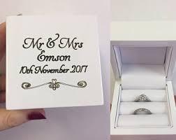 wedding rings in box wedding ring box etsy