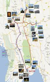 Map Burma Travel Route Map For Myanmar Burma Trip