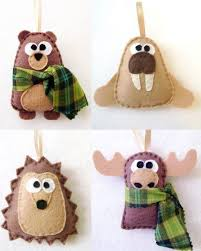 bichinhos artesanato pinterest felt christmas ornaments