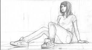 female figure sketch by sonicbommer on deviantart