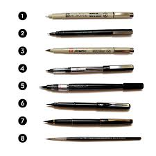 a guide to drawing pens from inktober type lettering