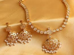 white stone necklace sets images Buy beautiful white south indian style neckalce set dj00137 online jpg