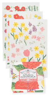flowers of the month now designs dish towels flowers of the month baker s floursack set