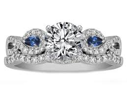 sapphire accent engagement rings engagement ring infinity engagement ring matching wedding ring