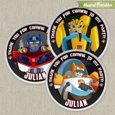 Rescue Bots Favors by Transformers Rescue Bots Goodie Bag Idea Transformers Rescue