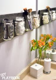 how to create a mason jar organizer for your bathroom space you may also like