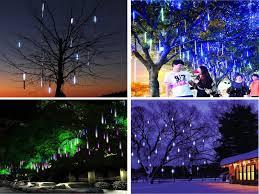 String Lights Garden by 96 Led 20cm Meteor Shower Rain Tube String Led Lights For Chrismas