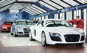 audi r8 slammed a stroll through audi u0027s aluminum emporium how a8s and r8s are