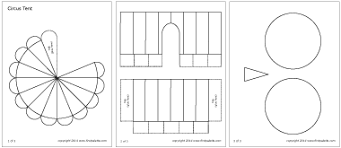 circus tent printable templates u0026 coloring pages firstpalette com
