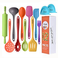 ustensile de cuisine silicone ttlife ustensiles de cuisine en silicone 12 pièces de couleur avec
