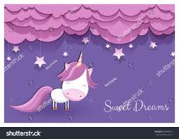Unicorn Cloud by Lovely Greeting Card Hand Drawn Unicorn Stock Vector 639499261