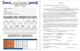 examen de 5 grado con respuestas examen del quinto grado del primer bloque del ciclo escolar 2017