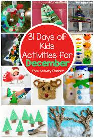 31 days of kids activities for december free activity calendar
