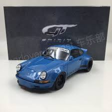 porsche rwb gt spirit porsche rwb 911 930 blue resin scale 1 18 limited 504