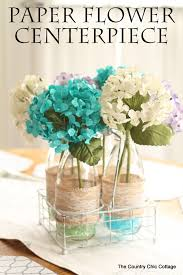 paper flower centerpieces paper flower centerpiece the country chic cottage