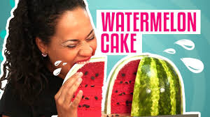 how to make a watermelon out of pink velvet cake yolanda gampp