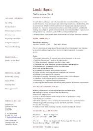 Sales Consultant Resume Sample by Sale Consultant Resume Resume For Your Job Application