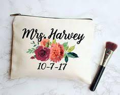 Bride Makeup Bag Personalized Makeup Bag Makeup Bag Fall Decor Fall Makeup Bag