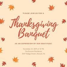 free thanksgiving invitation templates orange leaves thanksgiving