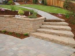 p u003ebuilding stairs out of versa lok matches the retaining wall