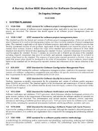 active ieee standards for software development specification
