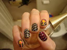 zebra nail designs black and white anna charlotta