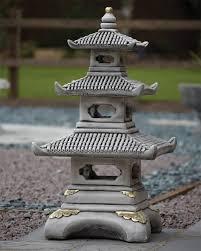 three tier japanese pagoda lantern large garden ornament