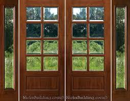 glass double door exterior