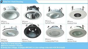 baffle trim recessed lighting recessed lighting 3 5 gu10 baffle trim eyeball light fixture buy