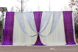 wedding backdrop curtains 3m 6m silk wedding backdrop curtains with silver sequin drape
