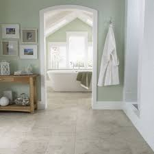 Bathroom Flooring Ideas Dark Green Wall Paint Of Attic Bathroom Design Idea Using Marble