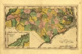 historical map of carolina 1814