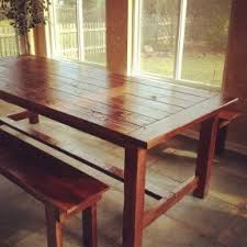 Bench Style Dining Tables Bench Style Kitchen Table Sets Foter
