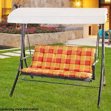 balkon hollywoodschaukel schaukel stoff auflage länge 140 cm balkon möbel sitz