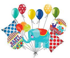 circus balloon 11pc circus animal elephant happy birthday balloon bouquet
