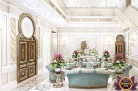 luxurious hall interior design in the country mansion