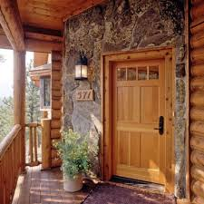 Log Home Interior Decorating Ideas by Log Home Exterior Doors Log Home With Stone Finish Around The
