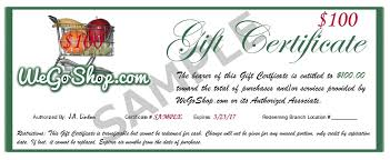 gift certificates gift certificates wegoshop grocery shopping and delivery service