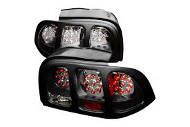 1994 mustang tail lights spec d tuning ford mustang 1994 1998 black led tail lights